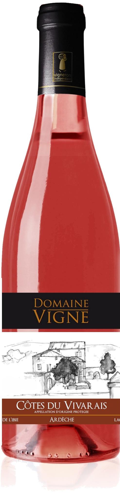Domaine vigne-cotes vivarais rose 2013